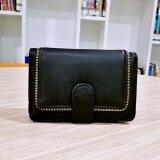 Korea กระเป๋าสตางค์ผู้หญิงใบสั้นทรงตั้ง รุ่น B018 8 สีดำ เป็นต้นฉบับ