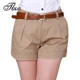 ขาย Korea Summer Woman Cotton Shorts Size S 2Xl New Fashion Design Lady Casual Short Trousers Solid Color Khaki White M Khaki Intl ราคาถูกที่สุด