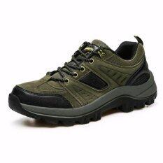 Korea Size44รองเท้าผ้าใบ รองเท้าปีนเขา ร้องเทาใส่เที่ยว รุ่น Bs003 (ข้อสั้นสีเขียว).