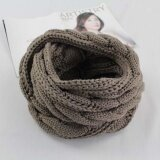 ทบทวน ที่สุด Korean Fashion Knitted Scarf New Winter Outdoor Warm Color Collar Men And Women Scarf Intl