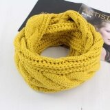 ซื้อ Korean Fashion Knitted Scarf New Winter Outdoor Warm Color Collar Men And Women Scarf Intl ถูก