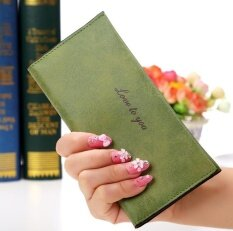 THB 371. Korean Fashion Leather Wallet Luxury Purses Women Wallets Designer High Quality Card Holder Vintage Clutch ...