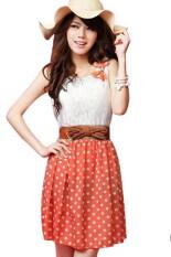 แฟชั่นเกาหลีผ้าชีฟองลายจุดสวยหวานมินิเดรส ระหว่างประเทศ Unbranded Generic ถูก ใน จีน