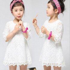 ขาย Korean Girls In The Sleeves Lace Dress Children Dress Intl ถูก