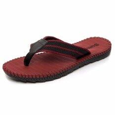 ซื้อ Korean Men S Slippers Sandals Male Student Summer Pinch Sandals Thick Soles Wear Non Slip Sandals Sandals Trendsetter Red Intl ออนไลน์ ถูก