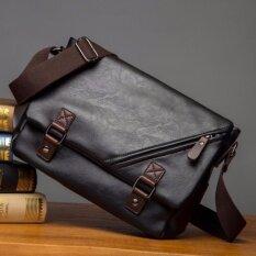 ราคา กระเป๋าสะพายข้าง Korean Style รุ่น 9848 สีดำ ใหม่ ถูก