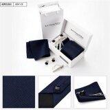 ซื้อ สไตล์เกาหลีธุรกิจผูกเน็คไท Tie ชุดแต่งงานผูกเน็คไทชุด Kerchief Tie Pin และข้อมือ Links กล่องผู้ชายชุดเน็คไท ถูก