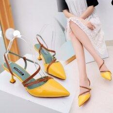 ราคา Korean Summer Women Sandals Thin Pointed Female Ferret Set Foot Baotou All Match Sandals Intl Unbranded Generic ใหม่