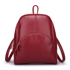 ซื้อ Korean Version Of The Multi Purpose Travel Bag Students Women S Bag Backpack(Wine Red) Unbranded Generic เป็นต้นฉบับ