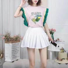ส่วนลด สินค้า New New Kr 00010 Blouse สไตล์เกาหลีแต่งช่วงแขน