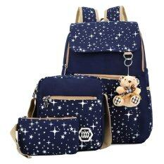 ซื้อ กระเป๋าเป้ผ้าใบสีน้ำเงินกระเป๋านักเรียนหญิง Vakind ออนไลน์