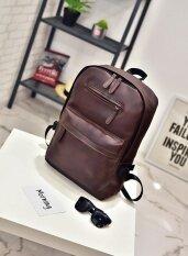 ขาย กระเป๋าเป้หนัง Pu กระเป๋าสะพายแฟชั่นนำเข้าจากเกาหลี สีน้ำตาล ใหม่