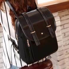 ราคา กระเป๋าเป้สะพายหลัง กระเป๋าเป้เกาหลี กระเป๋าสะพายหลังผู้หญิง สีดำ Vlj009Th ใหม่