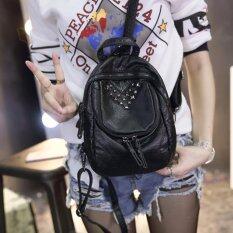 ขาย กระเป๋าเป้สะพายหลัง กระเป๋าเป้เกาหลี กระเป๋าสะพายหลังผู้หญิง สีดำ Vlj018Th Unbranded Generic ผู้ค้าส่ง