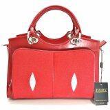 ซื้อ กระเป๋าหนังปลากระเบน ทรงถือ สายสะพาย รุ่น Sp 02 สีแดง กรุงเทพมหานคร