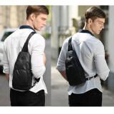 ราคา กระเป๋าสะพายข้าง พาดลำตัวสีดำ ผู้ชาย รุ่นXb13005 กันน้ำ สีดำ ใหม่ล่าสุด