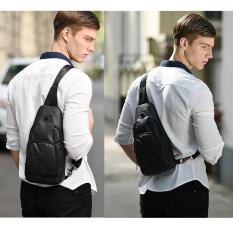 ส่วนลด กระเป๋าสะพายข้าง พาดลำตัวสีดำ ผู้ชาย รุ่นXb13005 กันน้ำ สีดำ ไทย