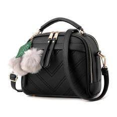 ราคา กระเป๋าสะพายผู้หญิง กระเป๋าสะพายข้างผู้หญิง กระเป๋าถือผู้หญิง กระเป๋าแฟชั่นผู้หญิง ช่องเหรียญ สีดำ Bag Int One Size ใหม่
