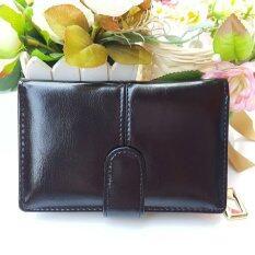 โปรโมชั่น กระเป๋าสตางค์ใบสั้น กระเป๋าเงินผู้หญิง กระเป๋าแฟชั่่น รุ่น S2 002S สีดำ Thailand