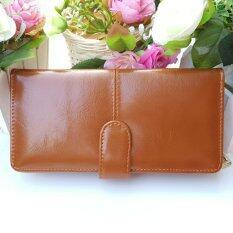 ซื้อ กระเป๋าสตางค์ใบยาว กระเป๋าเงินผู้หญิง กระเป๋าแฟชั่่น รุ่น S2 002L สีน้ำตาล ถูก Thailand