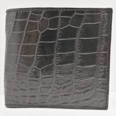 ราคา กระเป๋าสตางค์หนังจระเข้ รุ่น C 01 แบรนด์ Ninza สีดำ ใหม่