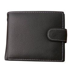 ราคา กระเป๋าสตางค์หนังสำหรับผู้ชายสไตล์เลเยอร์ Cowhide สีดำ ออนไลน์
