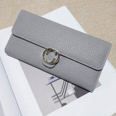 ขาย กระเป๋าสตางค์ผู้หญิงTc สีเทา