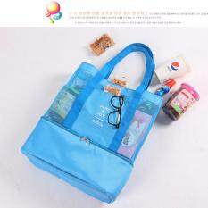 ราคา กระเป๋าถือ กระเป๋าสะพายไหล่จากเกาหลี มีช่องเก็บความเย็นรักษาอุณหภูมิ สีฟ้า ที่สุด