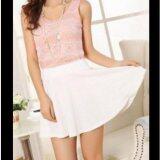 ซื้อ กระโปรงสั้น ซับกางเกง Colorful Pleated Skirt White Color ออนไลน์ กรุงเทพมหานคร
