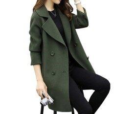 Kuhong ผู้หญิงฤดูหนาวสไตล์หลวมบางรังไหมคู่ Tweeds เสื้อผู้หญิงเสื้อ-นานาชาติ.