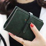ลาวีมินิน่ารักๆกระเป๋าสตางค์กระเป๋าถือกระเป๋าคลัตช์สั้นที่เก็บบัตรประชาชน สีเขียว เป็นต้นฉบับ