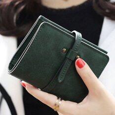 ขาย ลาวีมินิน่ารักๆกระเป๋าสตางค์กระเป๋าถือกระเป๋าคลัตช์สั้นที่เก็บบัตรประชาชน สีเขียว ใน Thailand
