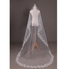 ส่วนลด Blackhorse Lace Lace Single Layer Wedding Veil 1 5 M Pure White Intl Unbranded Generic จีน