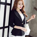 ซื้อ Ladies Blazers Long Sleeve Single Button Blazer Women Ruffle Suit Jacket Ol Business Female Coats Black Intl จีน