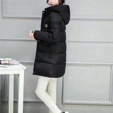ขาย ซื้อ ออนไลน์ Ladies Coat Women Jacket Casual Down Parkas Cotton Stylish Winter Jackets Black Intl
