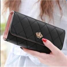 ส่วนลด Lady Fashion กระเป๋าสตางค์ใบยาว กระเป๋าเงินผู้หญิง กระเป๋าตังตามวันเกิด รุ่น ดำ Lady Fashion ใน กรุงเทพมหานคร