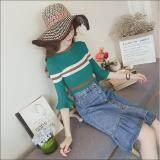 ราคา Lady Fashionเสื้อสเวตเตอร์ผ้าไหมเสื้อแขนเกลียวผู้หญิงเสื้อลำลอง Green Lady กรุงเทพมหานคร