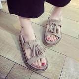 ราคา ราคาถูกที่สุด Lady Jolly รองเท้าแตะแฟชั่น Gray
