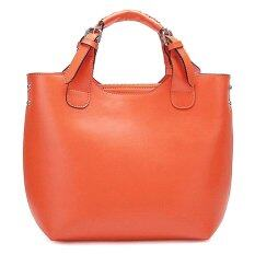 ราคา Lady Rewards กระเป๋าแฟชั่น หนังแท้ รุ่น Nu 1170142 สีน้ำตาลส้ม Lady Rewards ออนไลน์