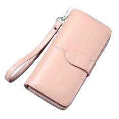 ส่วนลด สินค้า Lady Rewards กระเป๋าสตางค์หนังแท้ พร้อมสายคล้องมือ รุ่น Wlw A8002 สีครีมชมพู