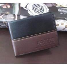 ราคา Ladyget กระเป๋าสตางค์ทรงสั้น กระเป๋าหนัง กระเป๋าสตางค์ กระเป๋าตังค์ กระเป๋าสตางค์ผู้ชาย กระเป๋าเงิน กระเป๋าใส่เงิน รุ่น Bovis1 2Blbr S สีดำสลับน้ำตาล Bovis เป็นต้นฉบับ