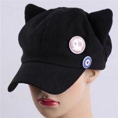 ขาย Lalang อะนิเมะแมวหูคอสเพลย์หมวกผู้หญิงหมวกเบสบอล สีดำ ผู้ค้าส่ง