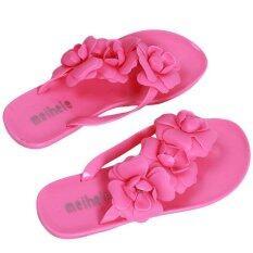 ขาย Lalang ดอกเคมีเลียรองเท้าแตะชายหญิงรองเท้าแตะรองเท้าแตะ สีชมพูร้อน จีน ถูก