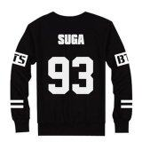 Lalang Korean Style Chic Round Neck Lovers Sweater Suga Printed Black ใน จีน