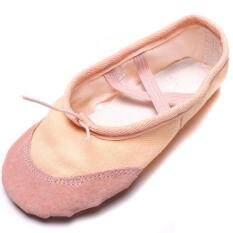 โปรโมชั่น ระบำรำฟ้อนรำสตรีรองเท้าหญ้าคาอันรองเท้าแฟลตพอยท์ สีเบจ Lalang