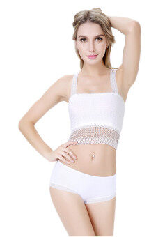 LALANG Women Lace Chest Wrap Bottoming Underwear (White)