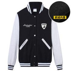 ราคา แรมโบ้เสื้อเกาหลีเสื้อกันหนาวบวกกำมะหยี่วัยรุ่นนักเรียน Lamborghini สีดำขนแกะ Unbranded Generic