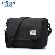 ขาย Lan Store Premium กระเป๋าคุณภาพระดับพรีเมี่ยม คลาสสิกกระเป๋าสะพาย Denim กระเป๋าแล็ปท็อปแท็บเล็ต Crossbodybag Bag สำหรับ Ipad Pro Macbook Ultrabook 13 นิ้ว สีดำ ถูก ใน จีน