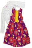 ราคา Laura Ashley ชุดเดรสกระโปรงสีสดใส สำหรับเด็ก สีขาว ถูก