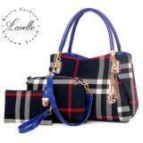 ส่วนลด Lavelle 306 3ใบใน1 เดียว คุณภาพระดับพรีเมียม แฟชั่น กระเป๋าถือ 3 In 1 สีน้ำเงิน Lavelle ใน ไทย
